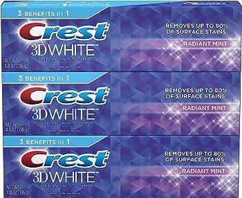 9-Count Crest 3D White Toothpaste Radiant Mint (4.1-oz)