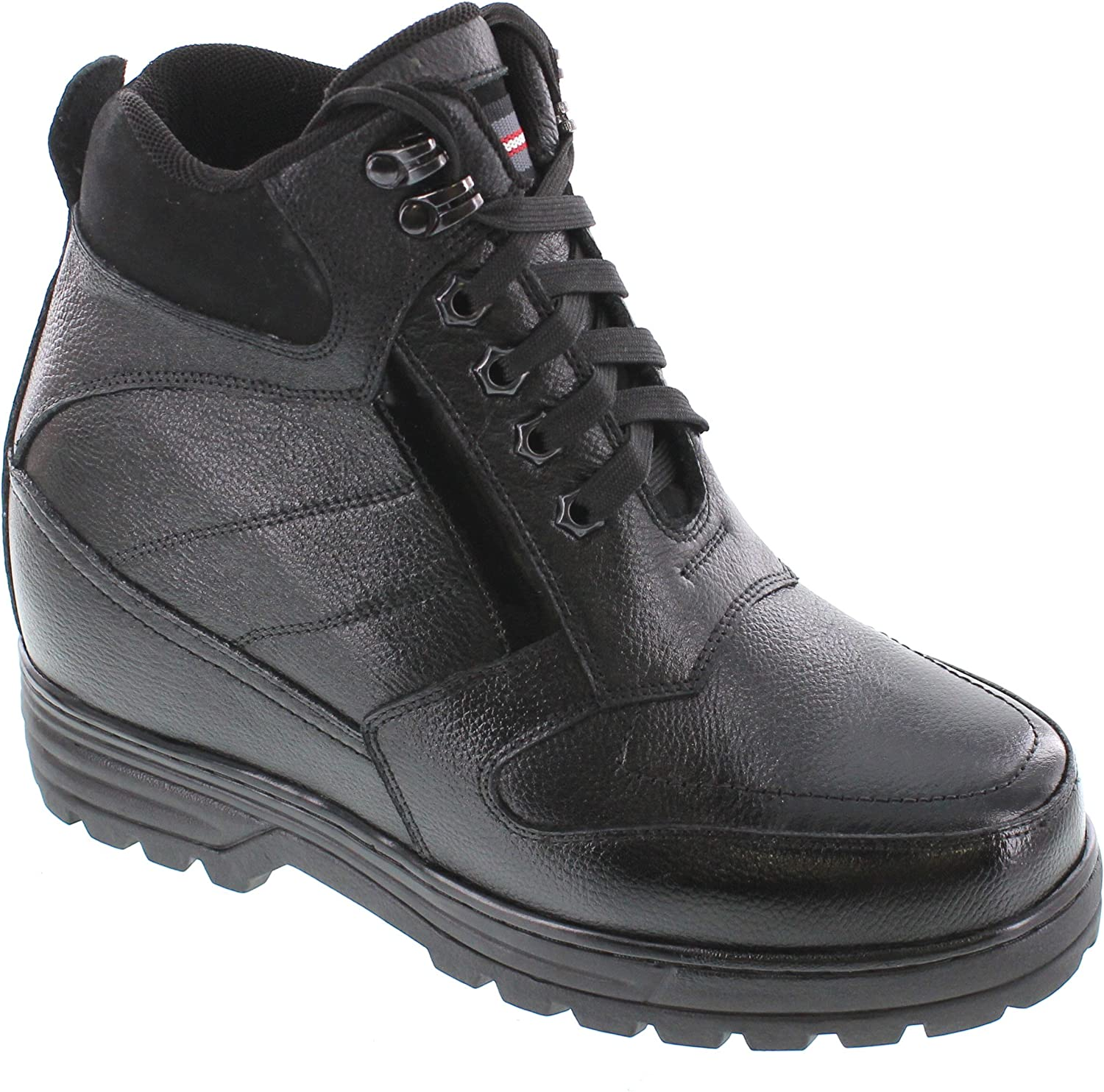 CALDEN - K881805-5.2 Inches Taller - Height Increasing Elevator shoes (Black Boots)