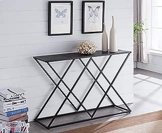 Kings Brand Furniture – Calvert Modern Sofa/Entryway Console Table, Black