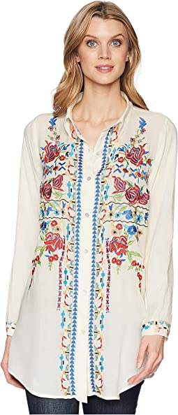 Scully Bailee Sexy Fabric Embroidered Blouse
