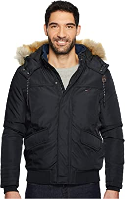 Tommy Hilfiger Denim - Winter Jacket with Faux Fur Hood