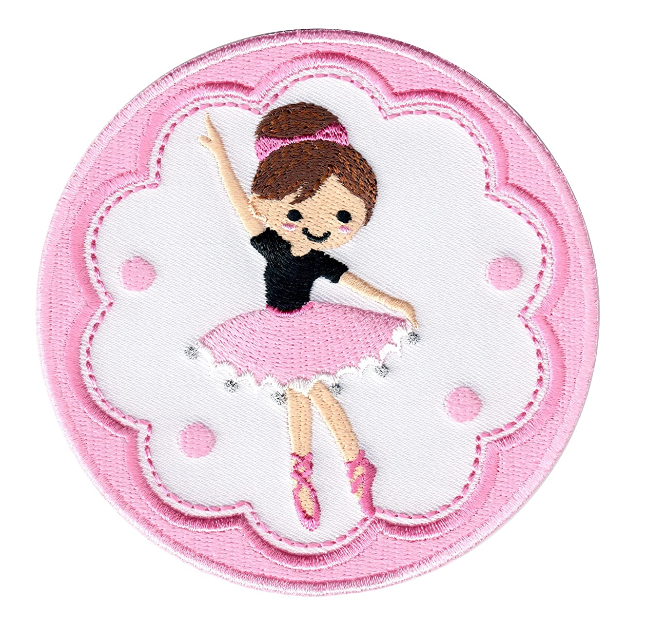 PatchMommy Iron On Patch, Ballerina - Appliques for Kids Children