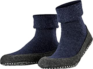 FALKE Men's Cosyshoe Slipper Sock Merino Wool Black Grey More Colours Thick Warm Cushioned Home Calf Sock For Indoor Use W...