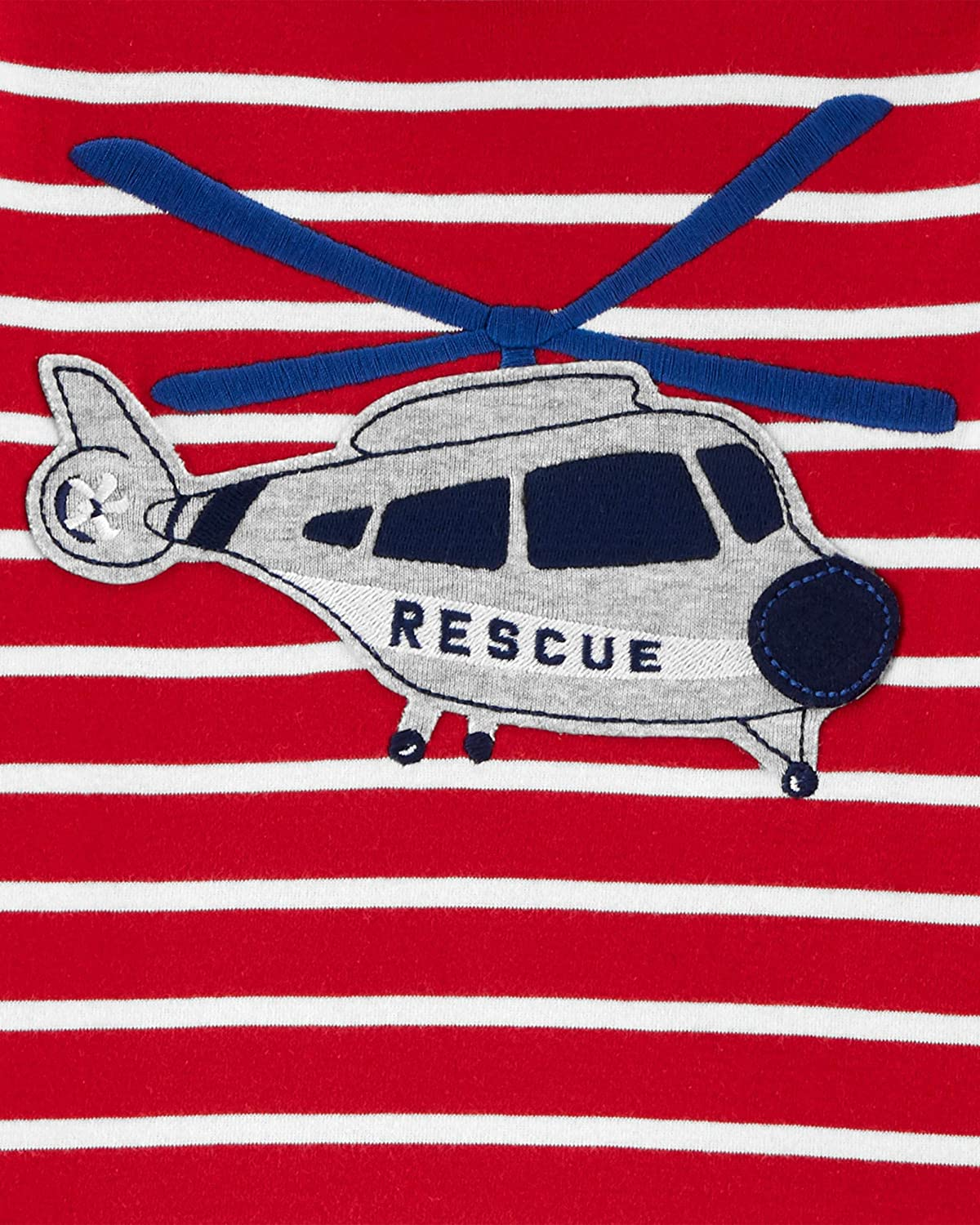 Carter's 4-Piece Baby-boy Sung fit Cotton Pajamas (Helicopter, 12m)