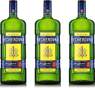 Becherovka Original Kräuterlikör 3er Set, Kräuterschnaps, Alkohol, Flasche, 38%, 3 x 1 L, 75535000