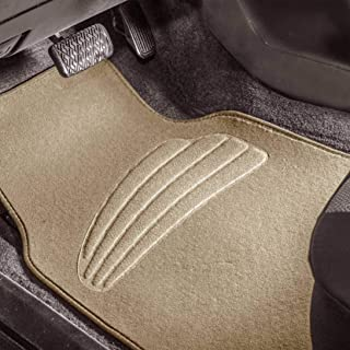 FH Group Beige F14401BEIGE Premium Carpet Floor Mats with Heel Pad, Color Fits Most Cars, Trucks, and SUVs