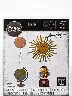 Sizzix Matrice de découpe Thinlits Set de 8pcs 663868 Cercle Play de Tim Holtz, Multicolore, Taille unique