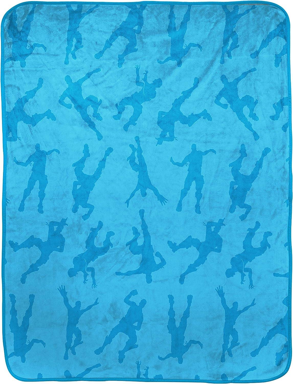5. Fortnite Emotes Blue Travel Blanket
