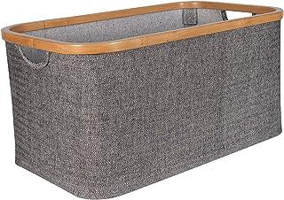 Gadgy Panier a Linge Sale | Corbeille a Linge Tissue | 45 L | Panier Bambou | Corbeille de Rangement |Corbeille a Linge Pl...