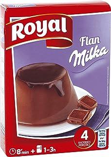 Royal Flan de Chocolate Milka, Preparado en Polvo - 4 Raciones, 115 g