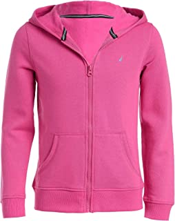 Girls' School Uniform Full-Zip Fleece Hoodie