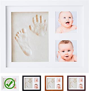 Baby Handprint Kit  NO Mold  Baby Picture Frame, Baby Footprint kit, Perfect for Baby Boy Gifts,Top Baby Girl Gifts, Baby Shower Gifts, Newborn Baby Keepsake Frames