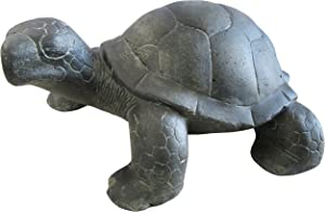 STONE art & more Tortuga, 23 cm, figura de piedra, moldeo en piedra, a prueba de heladas