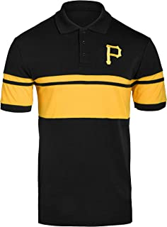 FOCO MLB Men's Cotton Stripe Polo