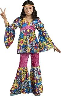 Forum Novelties Deluxe Designer Collection Flower Power Costume, Child Large