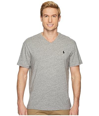 Polo Ralph Lauren Classic Fit V-Neck T-Shirt (Dark Vintage Heather) Men