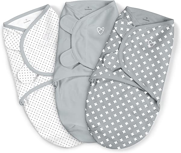 SwaddleMe Original Swaddle 3PK Criss Cross Polka Dot Small 0 3 Months 7 14 Lbs