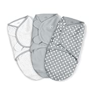 SwaddleMe Original Swaddle Pack of 3, Criss Cross Polka Dot, Small (0-3 Months, 7-14 lbs)