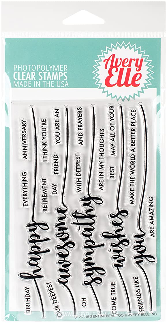 Avery Elle ST-17-16 Clear Stamp Set 4