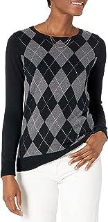 [Amazon Essentials] 軽量 クルーネック クラシックフィット 長袖 セーター レディース