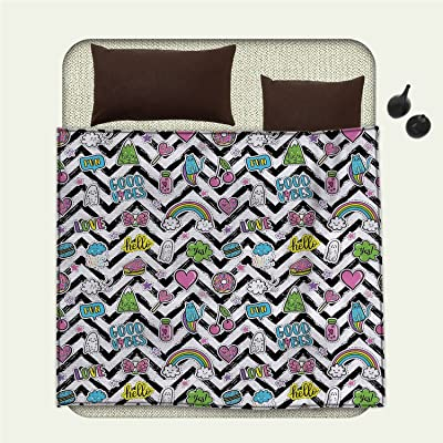 Kess InHouse Trebam Kamara White Chevron Throw 60 x 40 Fleece Blankets