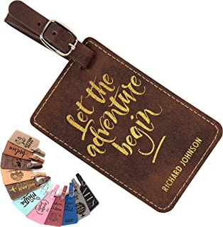 Happy Pig Year Leather Luggage Tags Suitcase Tag Travel Bag Labels With Privacy Cover For Men Women 2 Pack 4 Pack