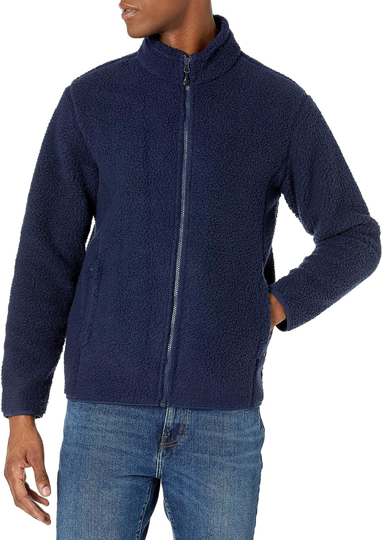 Amazon Essentials Men's Sherpa Fleece Full-Zip Jacket