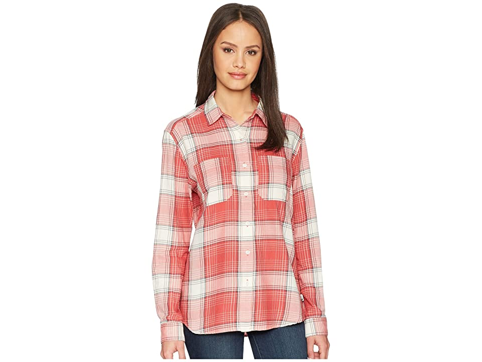 The North Face Long Sleeve Castleton Shirt (Sunbaked Red Trailhead Plaid) Women