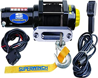 9,500 lb//4,309 kg capacity with hawse fairlead /& synthetic rope 12 VDC winch Superwinch 1695201 Talon 9.5SR