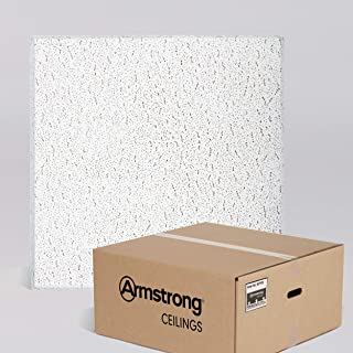 Armstrong Ceiling Tiles; 2x2 Ceiling Tiles - Acoustic Ceilings for Suspended Ceiling Grid; Drop Ceiling Tiles Direct from the Manufacturer; FISSURED Item 705 – 16 pcs White Tegular