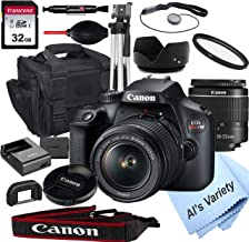 Canon EOS Rebel T100 DSLR Camera with 18-55mm f/3.5-5.6 Zoom Lens + 32GB Card, Tripod, Case, and...