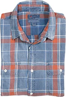 Lucky Brand Men`s Classic Fit Worn-in Flannel Twill Work Shirt