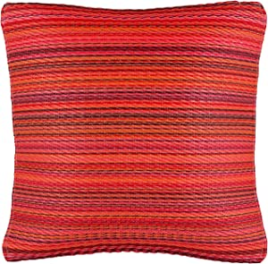 Fab Habitat Outdoor Accent Pillow, UV & Weather Resistant, Recycled Plastic - Cancun - Sunset (16.5