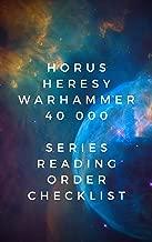Horus Heresy Warhammer 40 000 Series Lista de verificación de orden de lectura