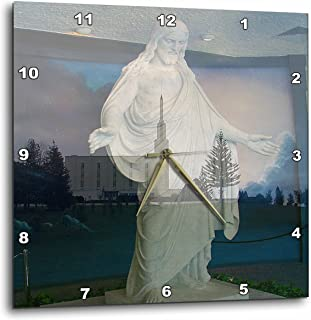 3dRose Savior, Jesus Christ Holding Out His Arms to Anyone Who Wants to Be Like Him in a Double Exposure-Wall Clock, 13-inch (DPP_48410_2)