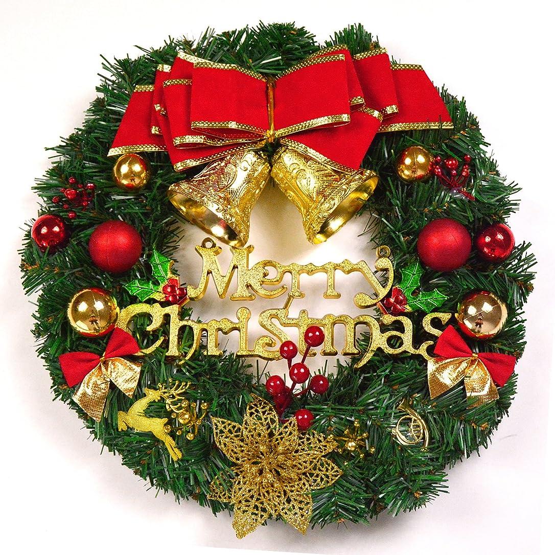 検索軽蔑する動詞ゴージャス クリスマスリース オーナメント ドア 飾り パーティー