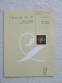 Canon in D, Intermediate, One Piano, Four Hands (The FJH Piano Ensemble Series)