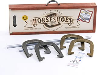 Best St. Pierre American Professional Horseshoe Set in Wood Case Review