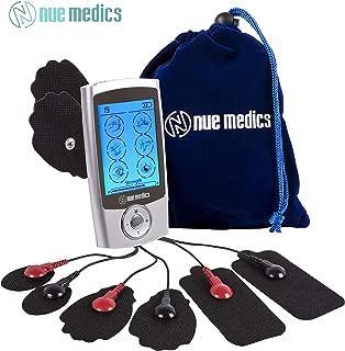 NueMedics TENS EMS Unit Pro Rechargeable Battery Muscle Stimulator 24 Modes Portable Mini Massager TENS Unit with 8 Reusable Pads