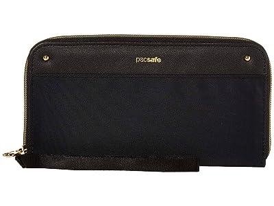 Pacsafe RFIDsafe Continental Wallet (Black) Handbags