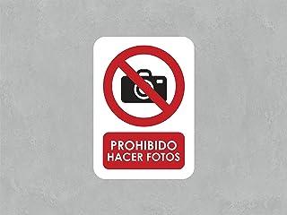 Oedim Señaletica para Exteriores Prohibido Hacer Fotos 21x14,8cm | Señaletica en Material Aluminio 3 mm Resistente y con Barnizado |