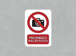 Oedim Señaletica para Exteriores Prohibido Hacer Fotos 21x14,8cm   Señaletica en Material Aluminio 3 mm Resistente y con Barnizado  