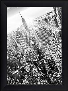 FRAMO 35 mm fotolijst DIN A0 (84,1 x 118,9 cm afbeelding), kleur: zwart mat, handgemaakt MDF-frame met anti-reflecterend k...