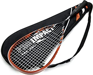 Pro Impact Graphite Squash Racket - Full Size with Carry On Cover and Durable Strings - Made of Pure Graphite Designed to Improve Gameplay for All Skill Levels