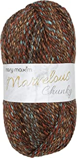 Mary Maxim Marvelous Chunky Yarn - 5 Bulky Weight Yarn for Knit and Crochet Projects - 100% Acrylic - 2 Ply - 270 Yards (C...