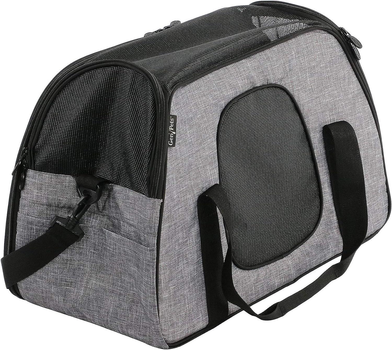 Gen7Pets G2219HG CarryMe Sleeper Pet Carrier & Portable Bed, Heather Grey