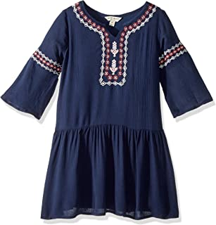 Lucky Brand Girls' Long Sleeve Solid Fashion Dress