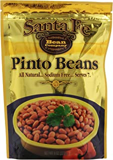 Santa Fe Bean Company Pinto Beans 8-Ounce Pouch (Pack of 8) Instant Pinto Beans; All Natural, High in Fiber; A Great Sourc...