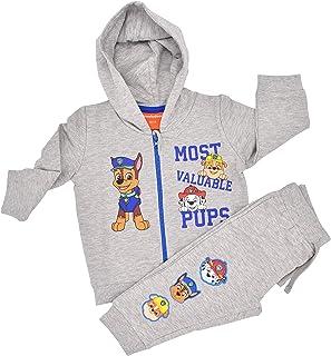Babybogi Paw Patrol Kinder Trainingsanzug | Größe 68 74 80 86 92 98 | 2 TLG Sportanzug | Kinder Jogginganzug dünne Baumwolle für Jungen in Grau