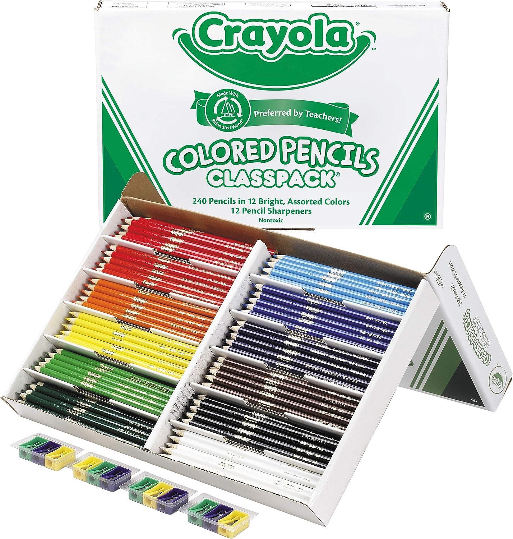 Crayola Colored Pencils, Bulk Classpack